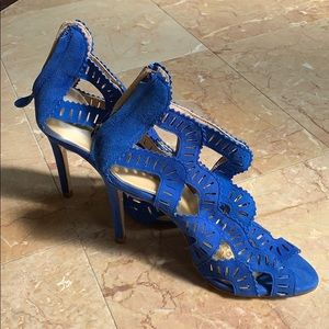 Electric Blue Brand New suede heels